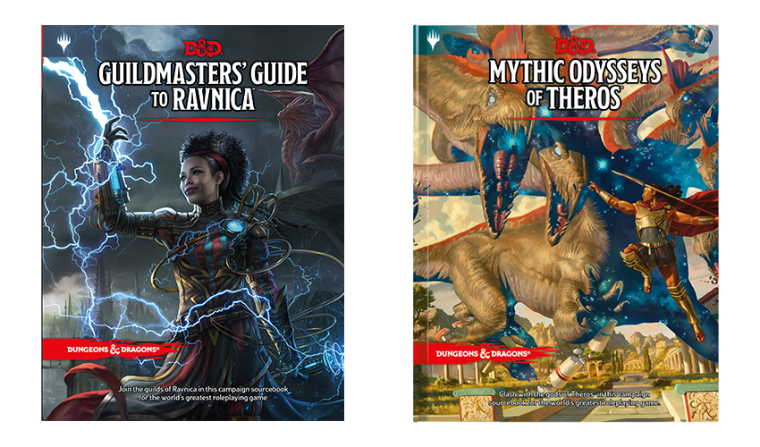 D&D books for Ravnica and Theros