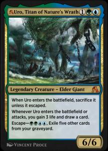 MTG Arena rebalanced card of Uro, Titan of Nature's Wrath