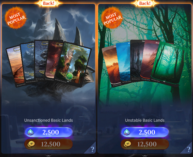 Full art basic land from Unsanctioned or Unstable sets
