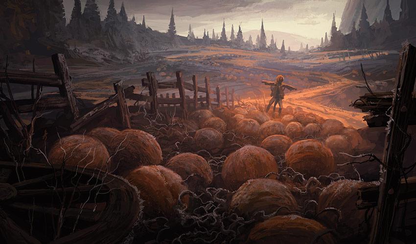 Landscape art—dark and creepy