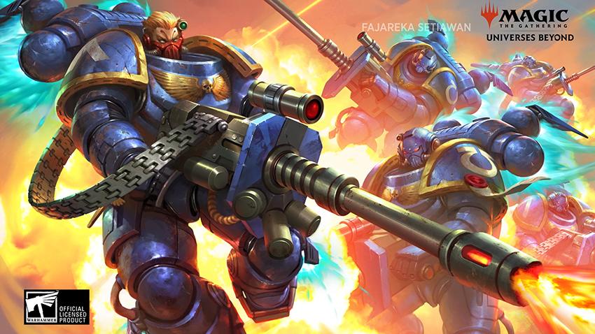 Warhammer 40,000 Space Marine card artwork
