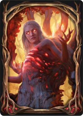 MTG Arena card sleeve of Wrenn and Seven