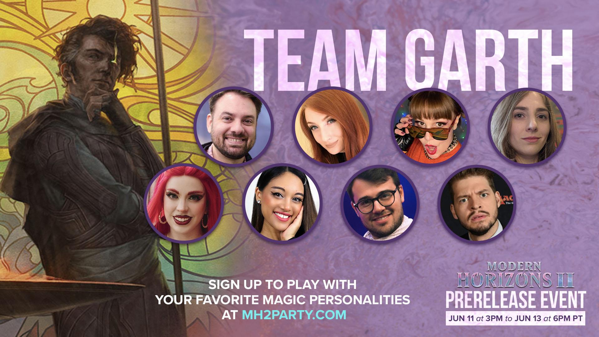 Team Garth members