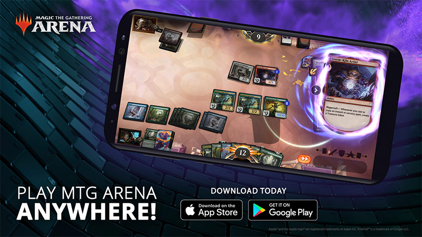 MTG Arena mobile now available graphic