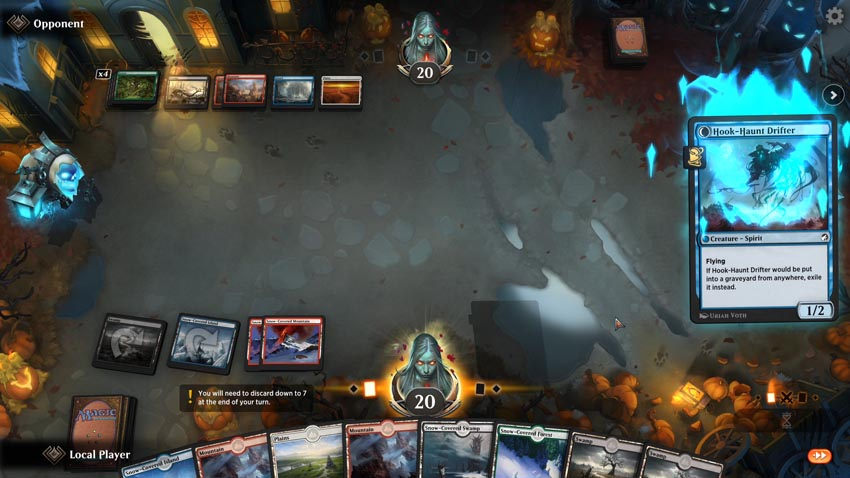 Disturb mechanic showing stack spooky flare