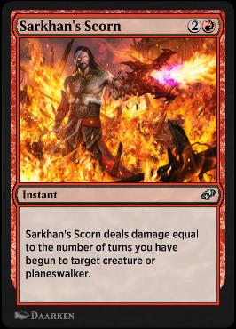 Sarkhan's Scorn