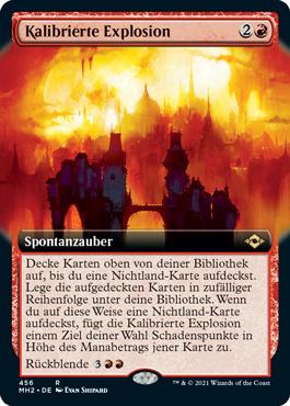Kalibrierte Explosion