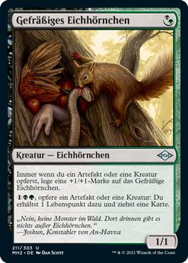 Gefräßiges Eichhörnchen