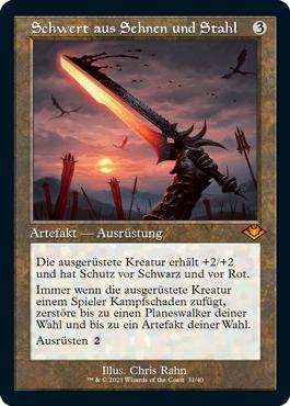 Schwert aus Sehnen und Stahl