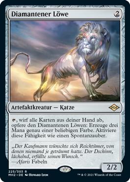Diamantener Löwe