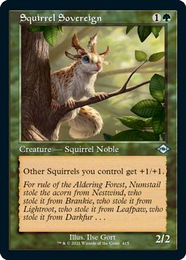Retro Frame Squirrel Sovereign