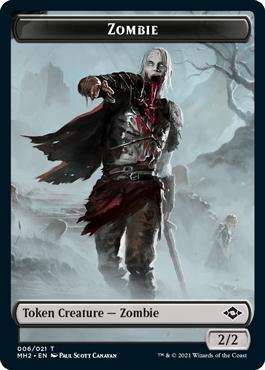 Modern Horizons 2 Zombie token