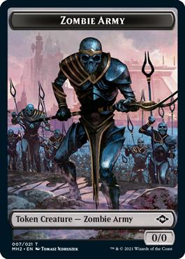 Modern Horizons 2 Zombie Army token