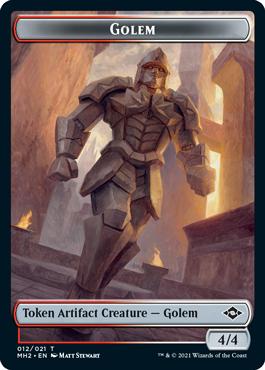 Modern Horizons 2 Golem token