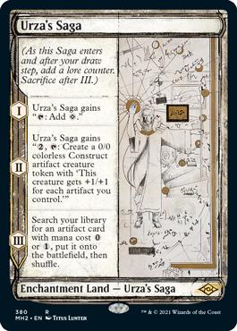 Sketch Frame Urza's Saga