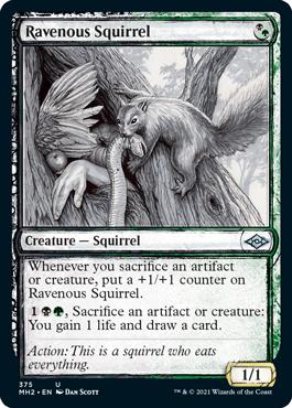 Showcase Sketch Ravenous Squirrel