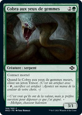 Cobra aux yeux de gemmes
