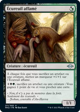 Écureuil affamé