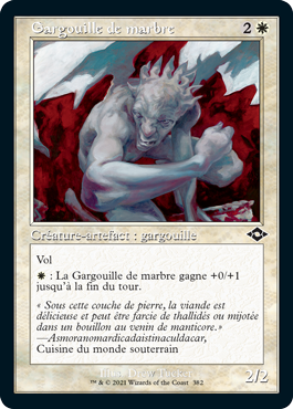 Gargouille de marbre
