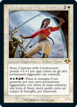 Sisay, Capitana della Cavalcavento