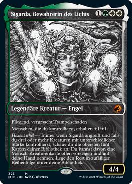 Sigarda, Bewahrerin des Lichts, im Ewige Nacht Design