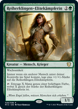 Reiherklingen-Elitekämpferin