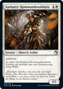Katharer-Kommandosoldatin
