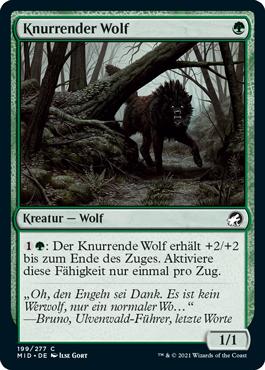 Knurrender Wolf