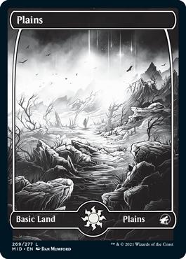 Plains eternal night full-art basic land variant