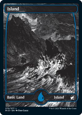 Island eternal night full-art basic land variant