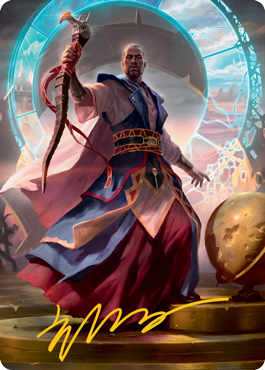 Teferi, Who Slows the Sunset Art Card 10/81