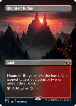 Haunted Ridge dual land borderless card treatment