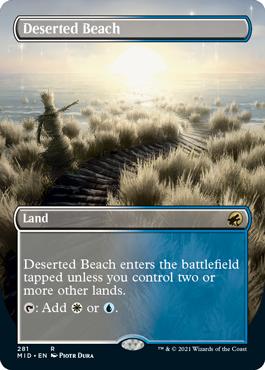 Deserted Beach dual land borderless card treatment