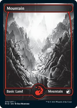 Mountain eternal night full-art basic land variant