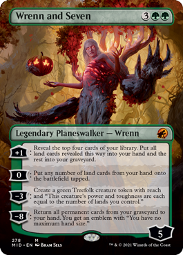 Wrenn and Seven borderless card treatment