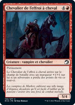 Chevalier de l'effroi à cheval