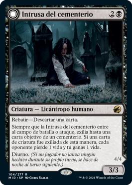 Intrusa del cementerio