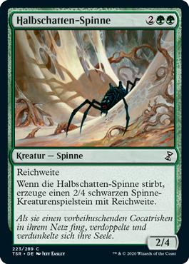 Halbschatten-Spinne