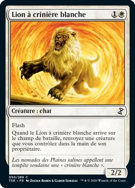 Lion à crinière blanche