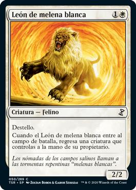 León de melena blanca