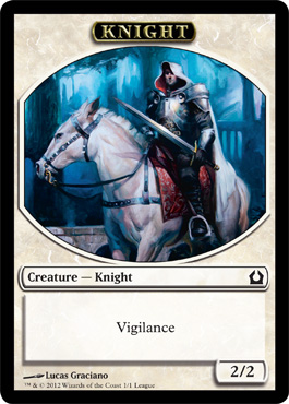 Return to Ravnica Knight Token