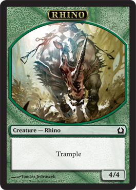 Return to Ravnica Rhino Token