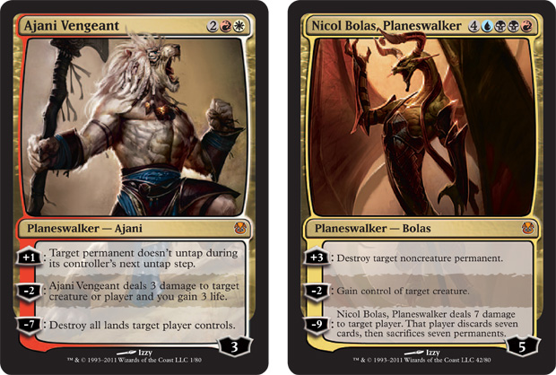 Ajani Vengeant and Nicol Bolas
