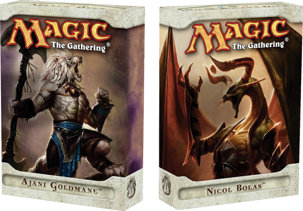 Ajani's deck and Nicol Bolas's deck