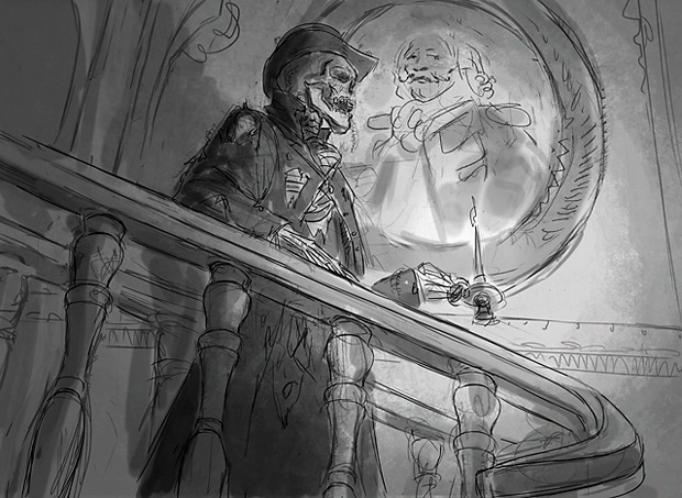 Sketches Pictures of Skeletons Manor Skeleton | Sketch by