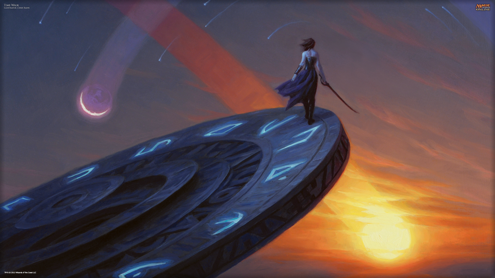 Time Walk Wallpaper Magic The Gathering