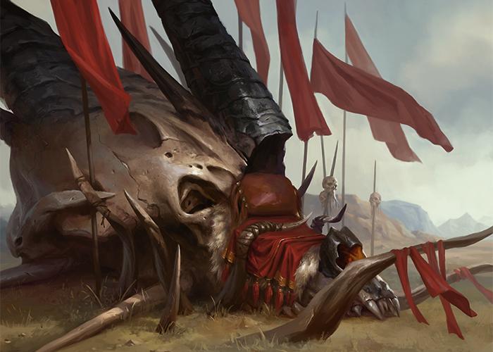 Там, где великий дракон погиб, разбившись о утесы, Марду построили крепость