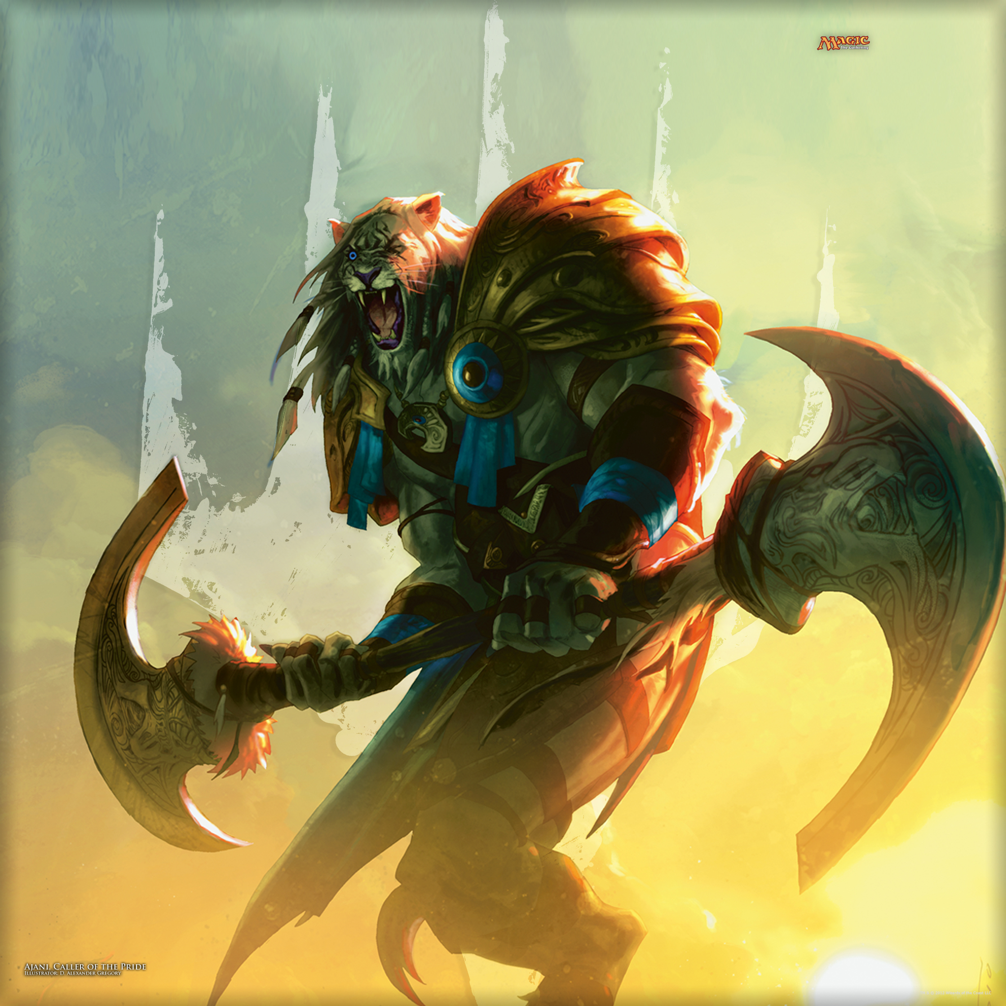 Wallpaper of the Week: Ajani, Caller of the Pride | MAGIC ...