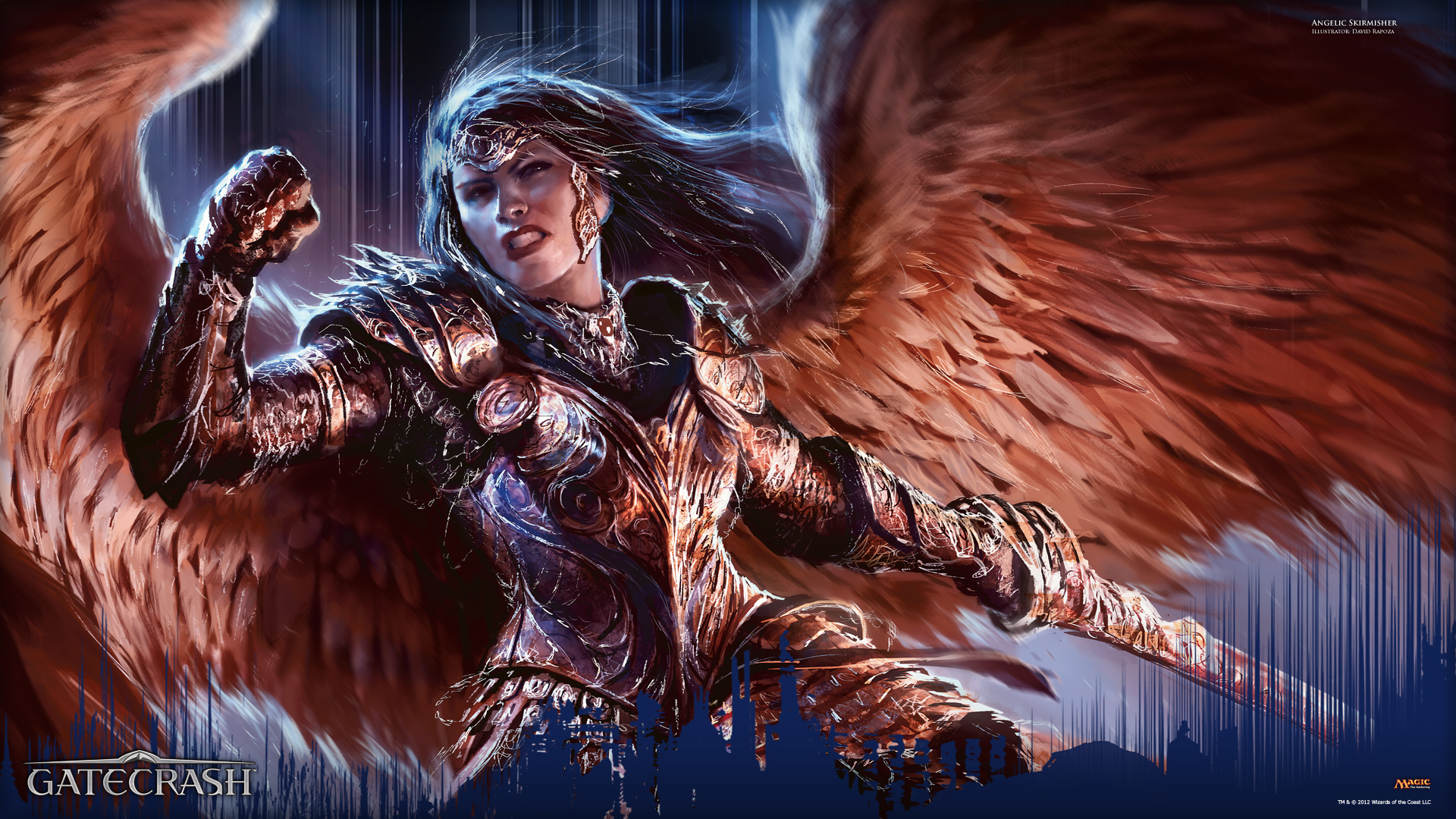 Wallpaper of the Week: Angelic Skirmisher | MAGIC: THE ... Planeswalker Points