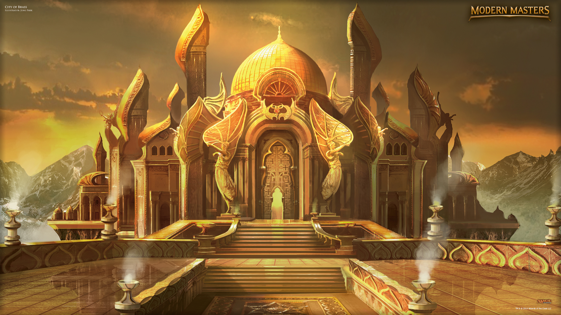 wallpaper of the week city of brass daily mtg magic. Black Bedroom Furniture Sets. Home Design Ideas